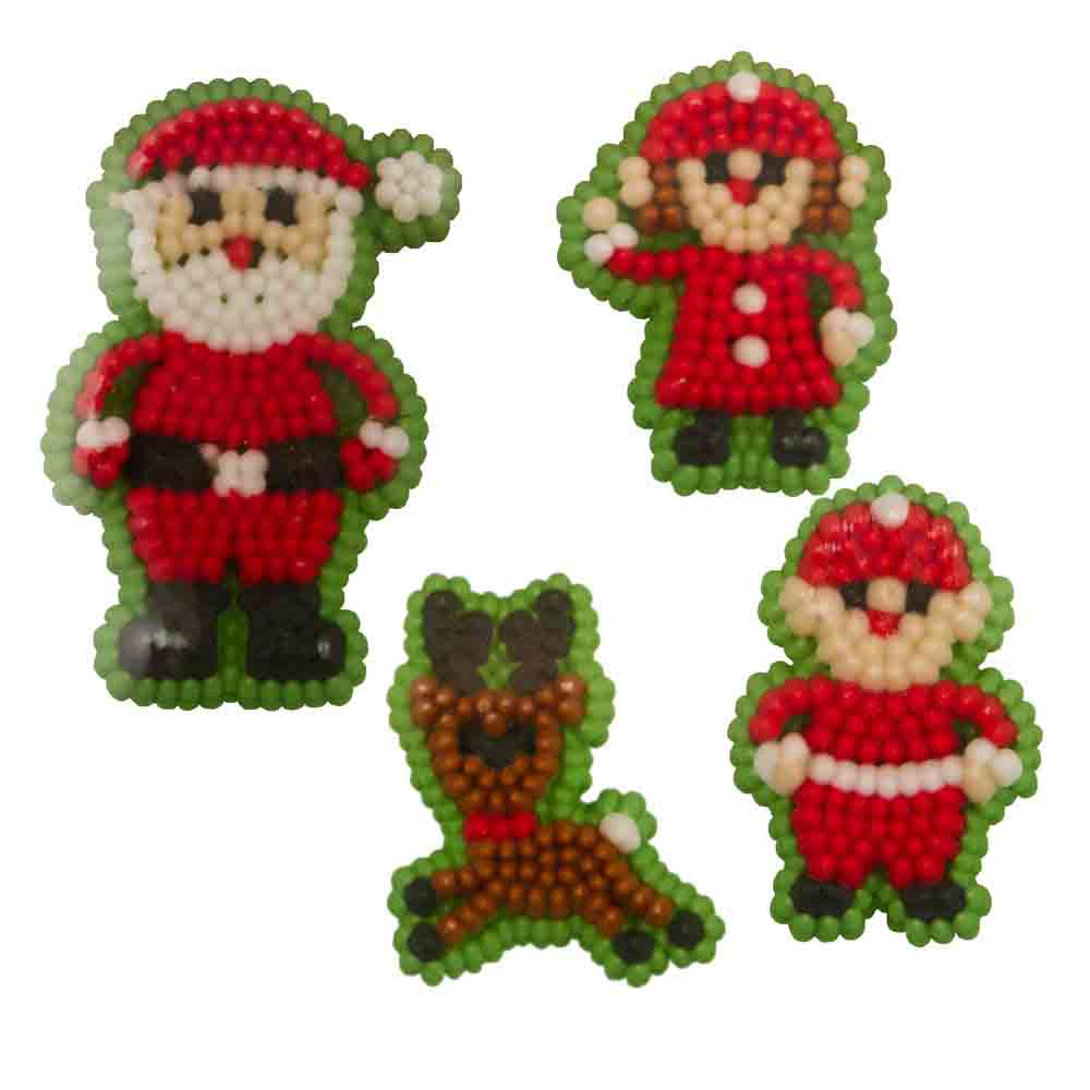 Santa Family Icing Decorations