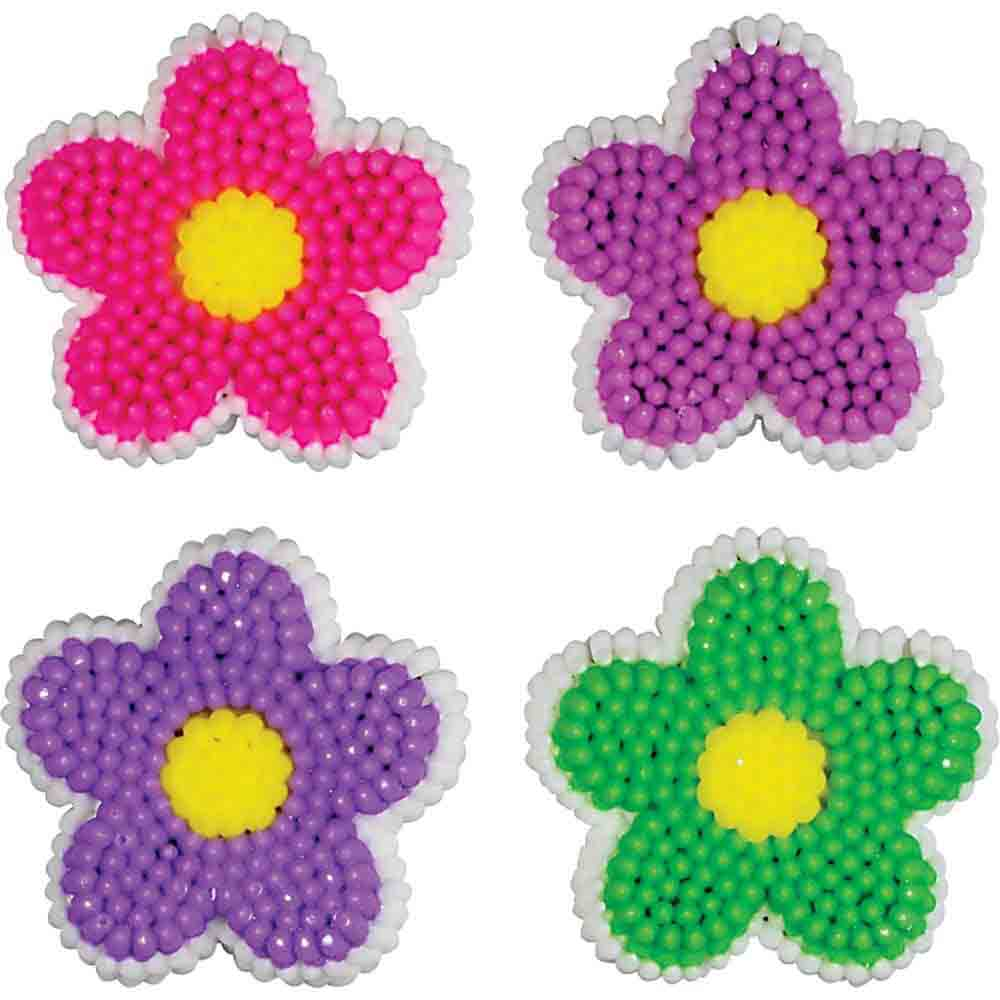 Dancing Daisies Flower Icing Decorations