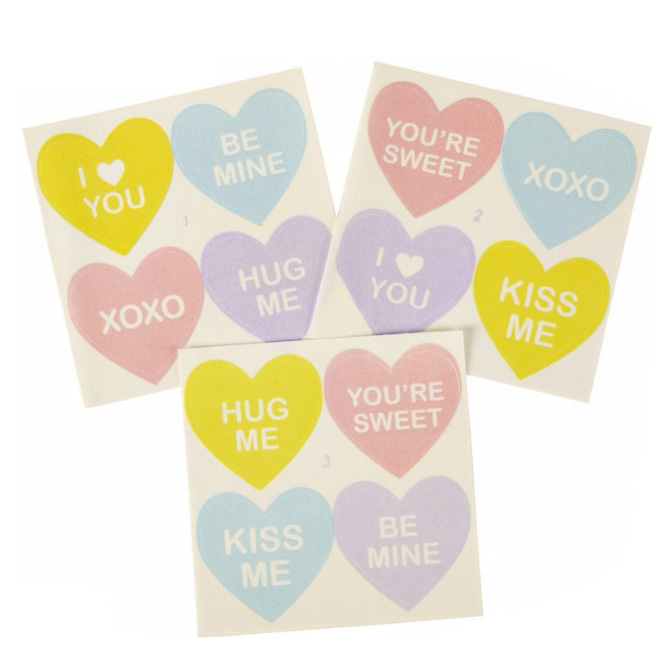 Conversation Hearts Sugar Sheets!™