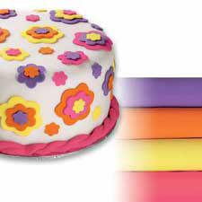 Neon Colors Wilton Rolled Fondant Multi Pack
