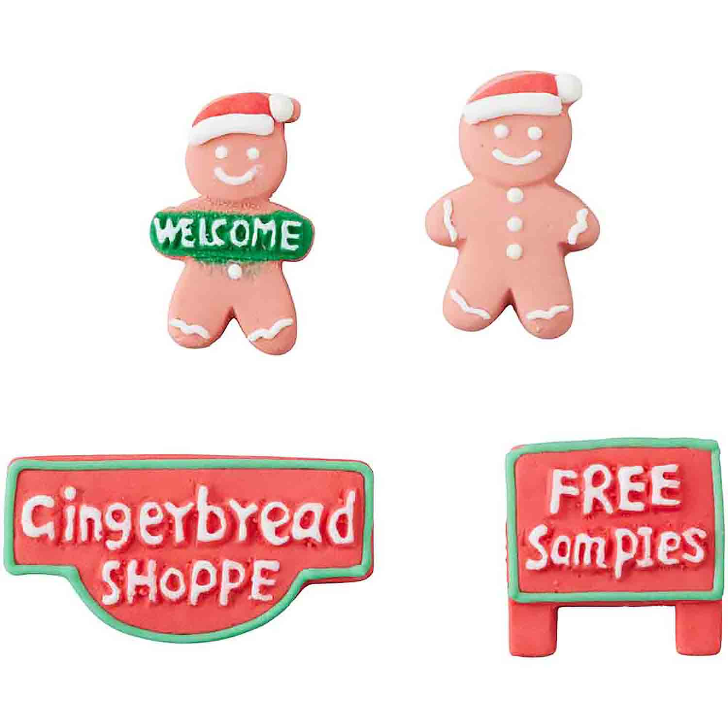 Gingerbread Boys and Signs Icing Decorations