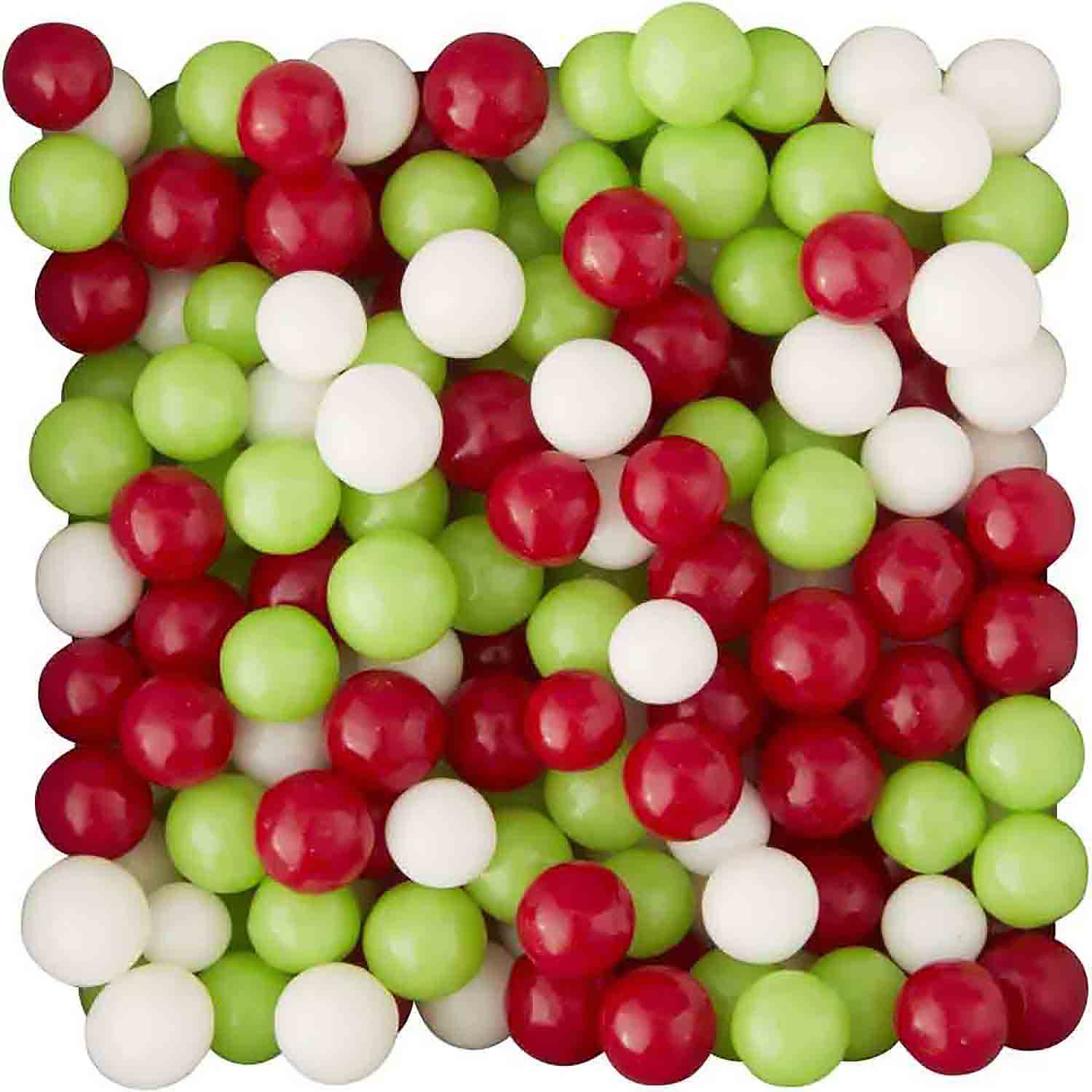 6mm Red, White, and Green Candy Pearls