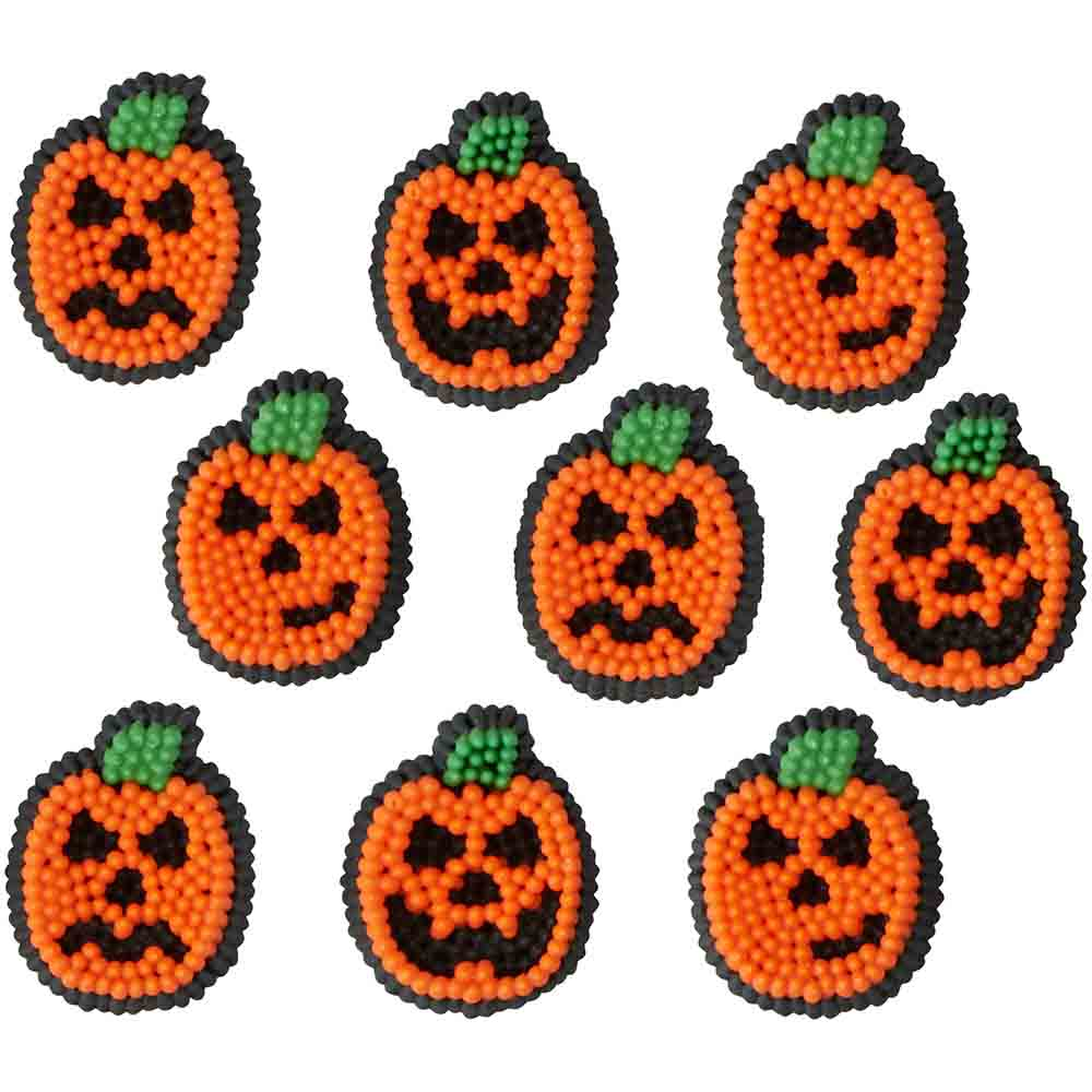 Jack-O-Lantern Icing Decorations