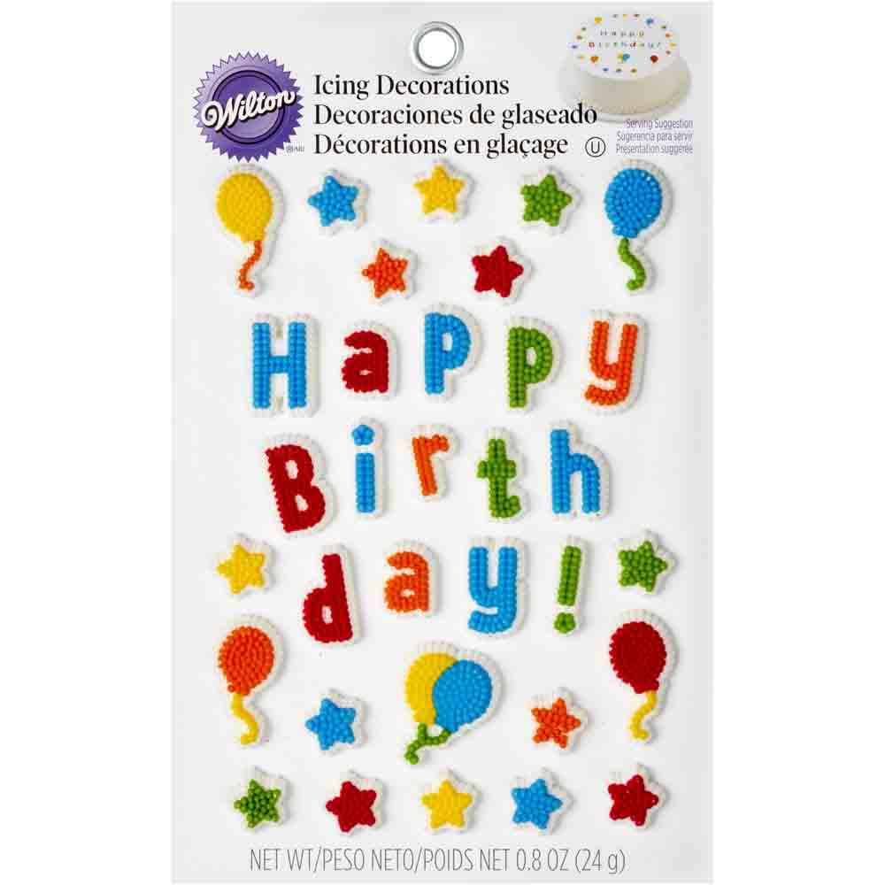 Happy Birthday Icing Decorations
