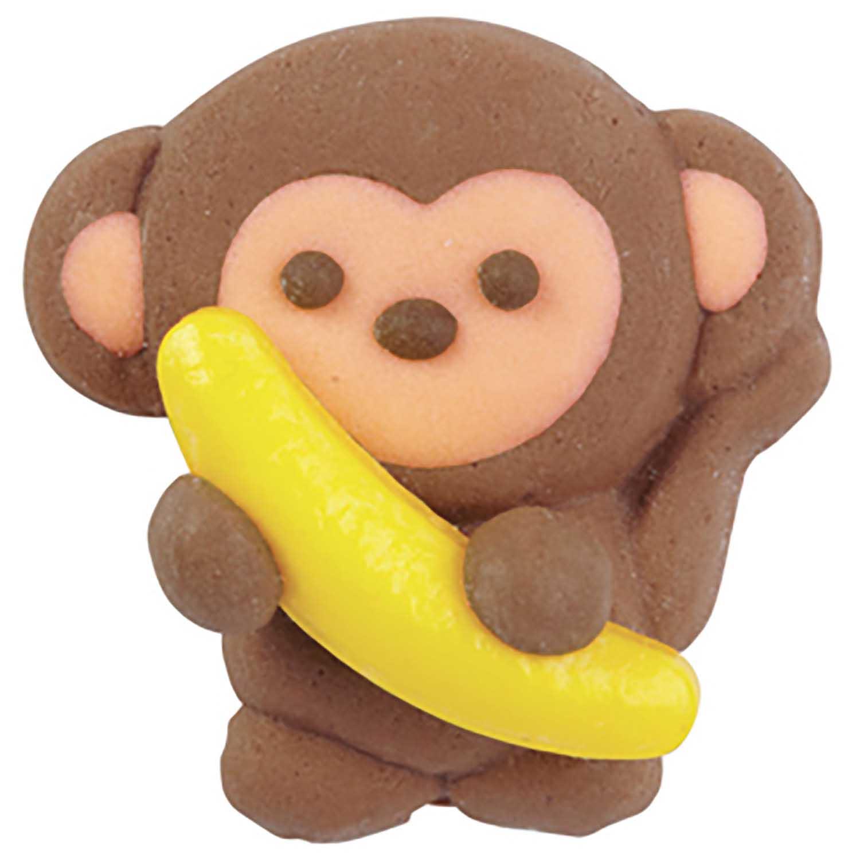 Monkey Royal Icing Decorations