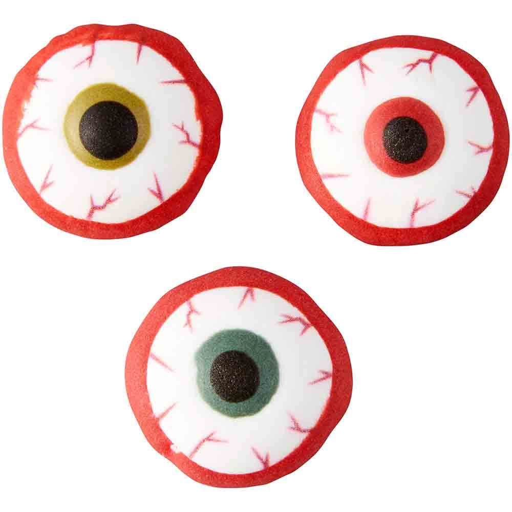 Bloody Eyeball Icing Decorations