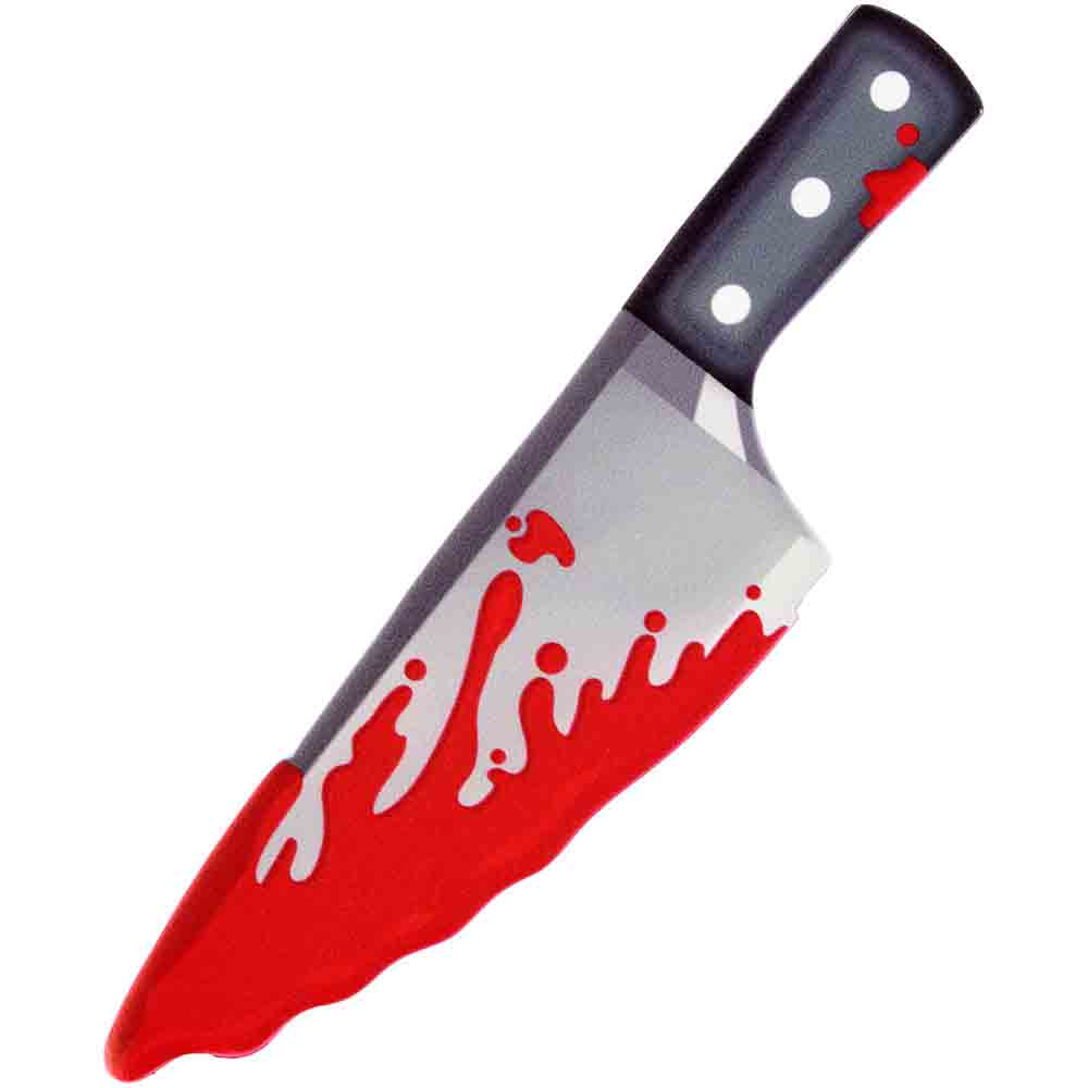 Large Bloody Knife Icing Decoration
