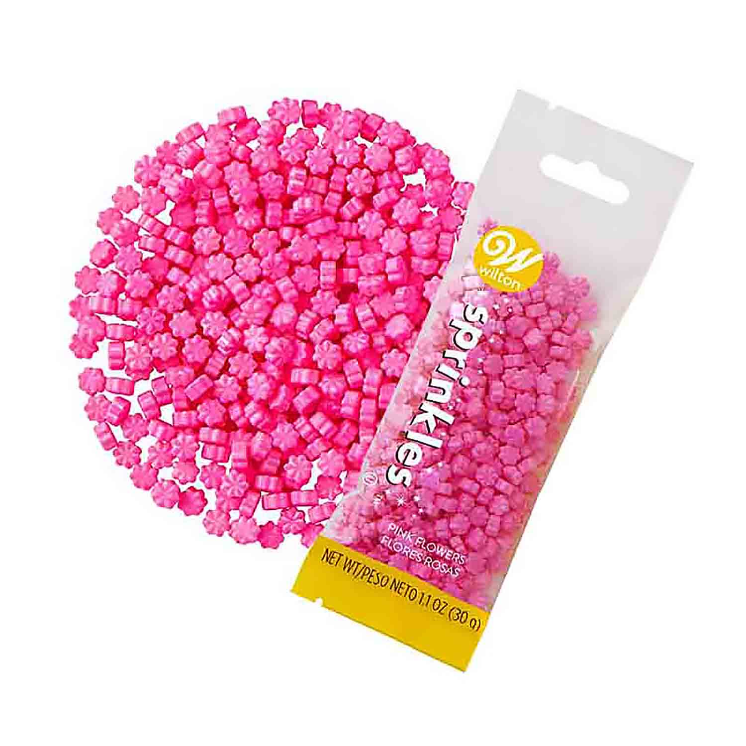 Pink Flower Candy Sprinkle Pouch