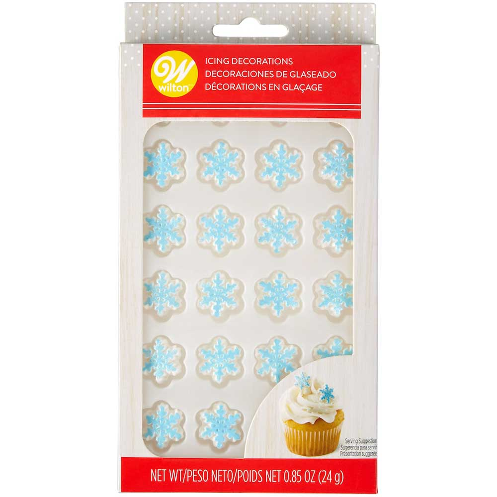 Shimmer Snowflakes Icing Decorations
