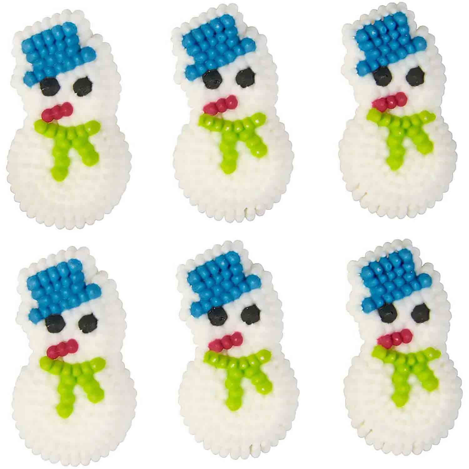 Snowman Icing Decorations