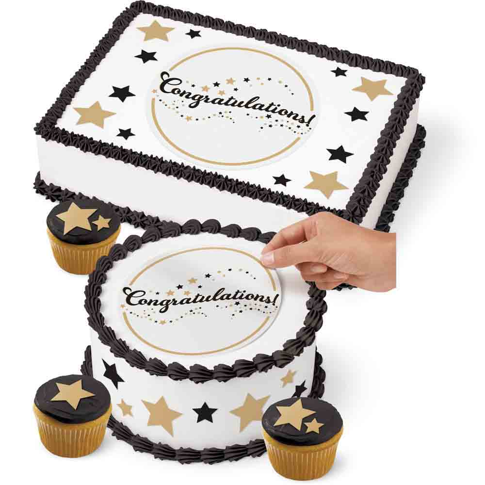 Sugar Sheets!™- Congratulations w/ Stars