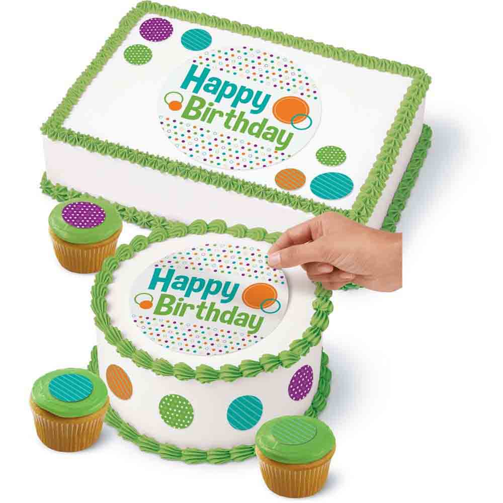 Sugar Sheets!™- Birthday Polka Dot