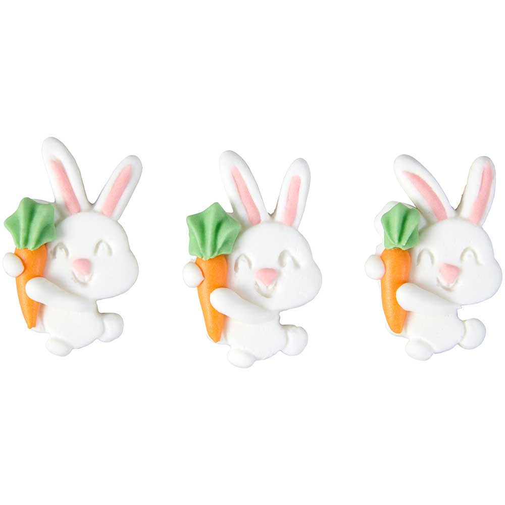 Bunny with Carrot Royal Icing Decorations