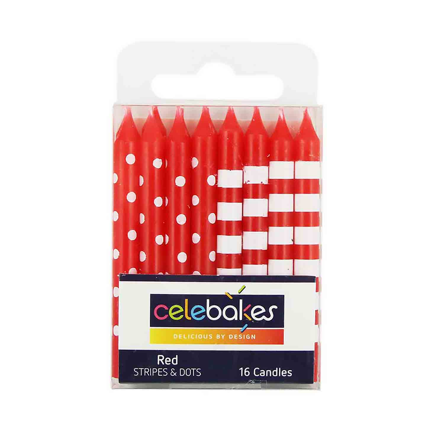 Red Stripes & Dots Candles
