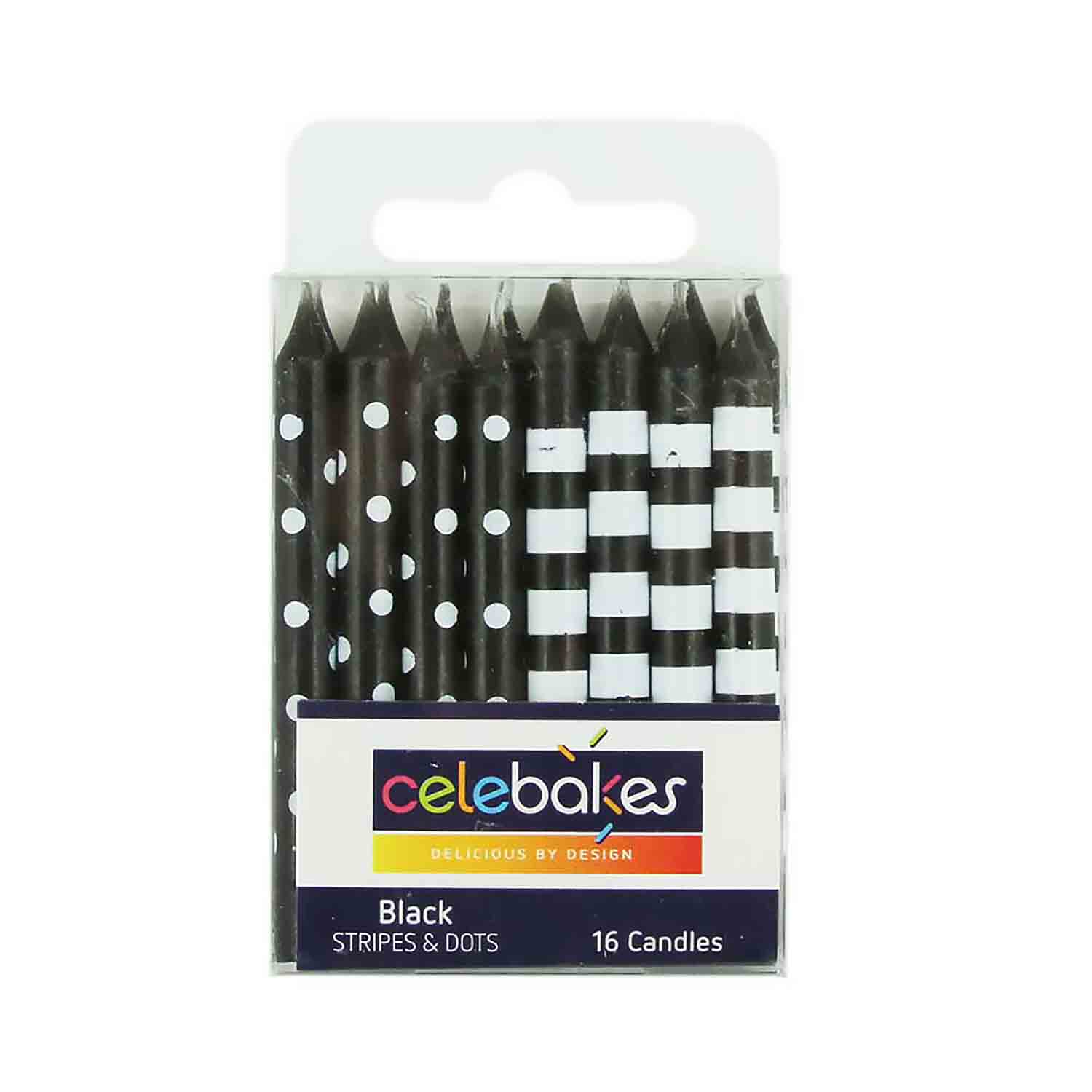 Black Stripes & Dots Candles