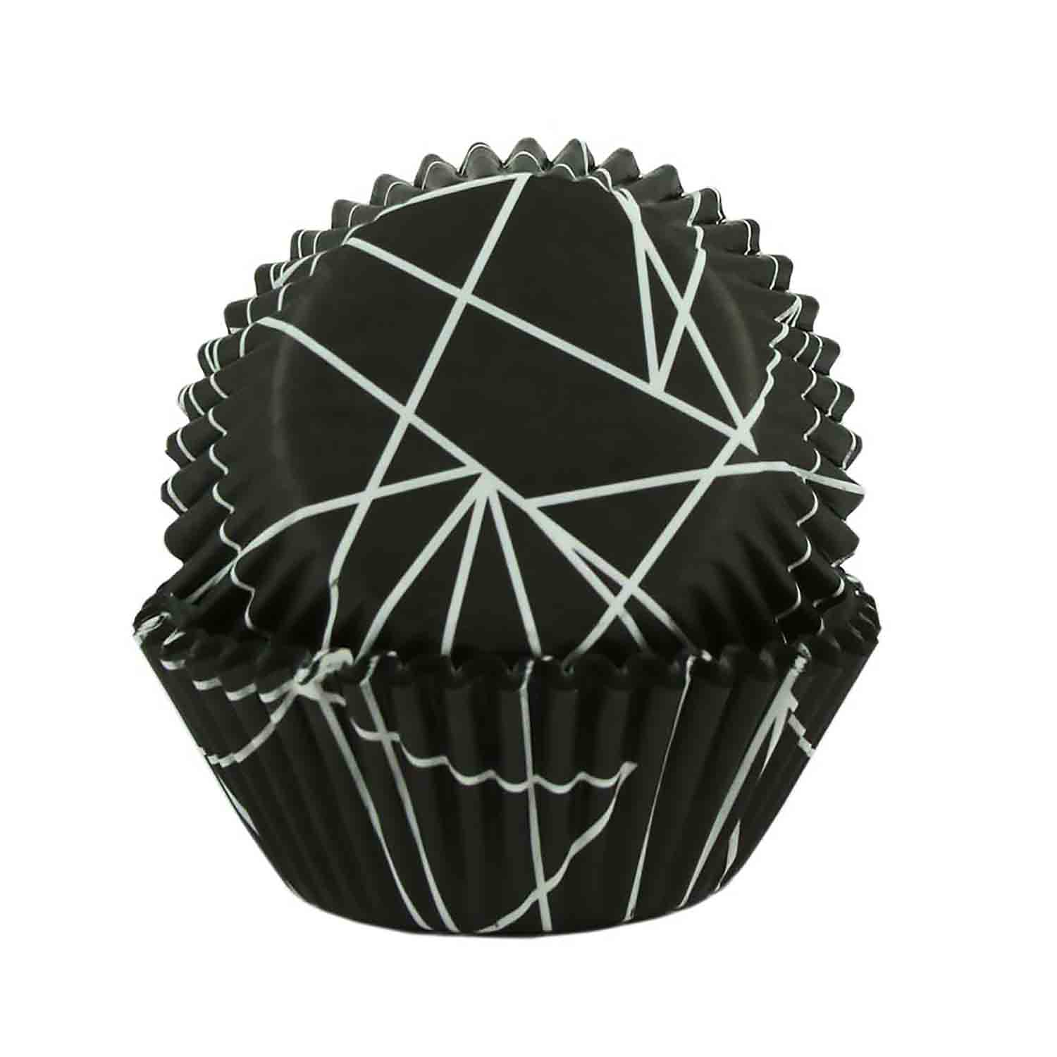Black Triangle Tangle Standard Baking Cups