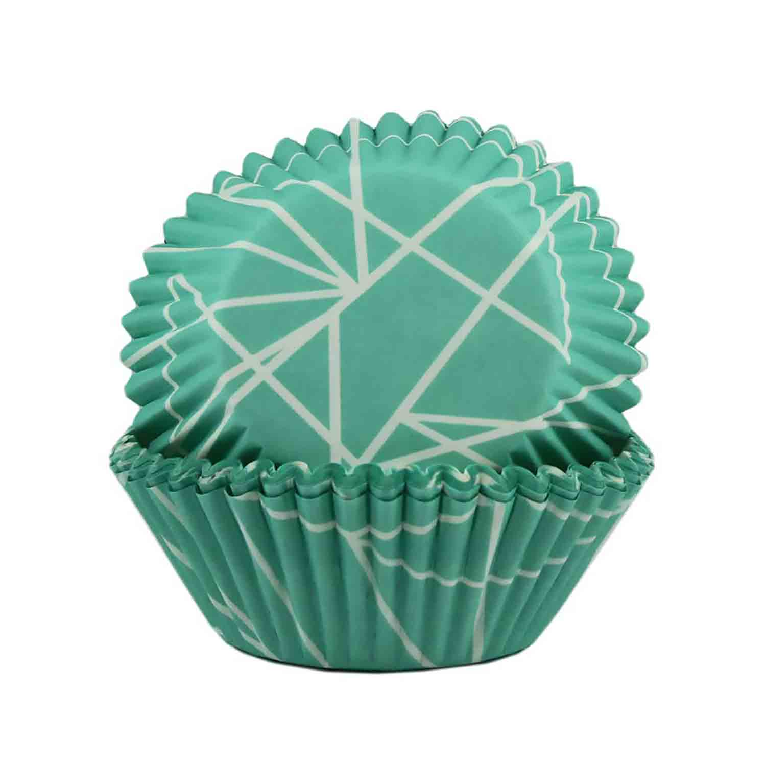 Teal Triangle Tangle Standard Baking Cups