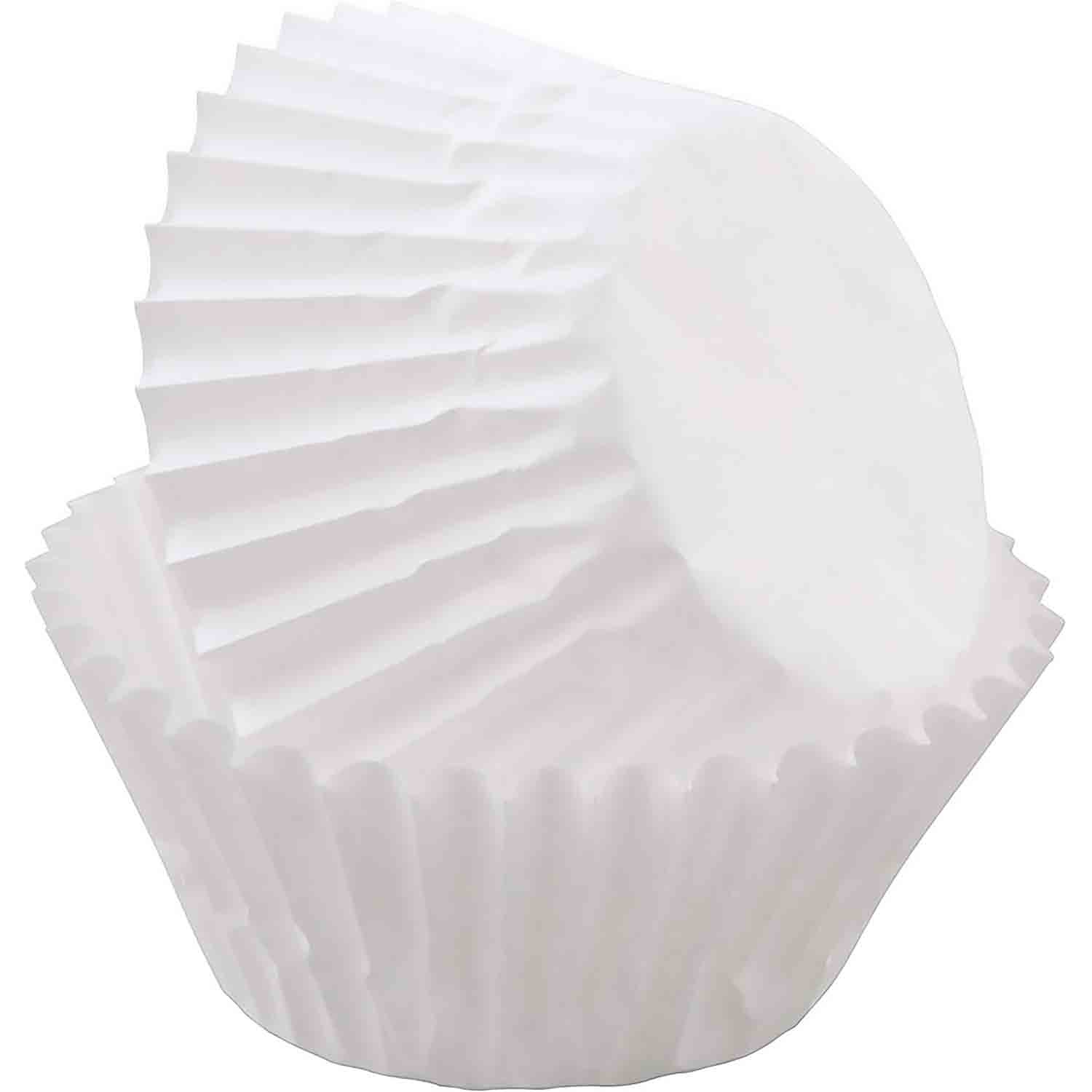 White Mini Baking Cups