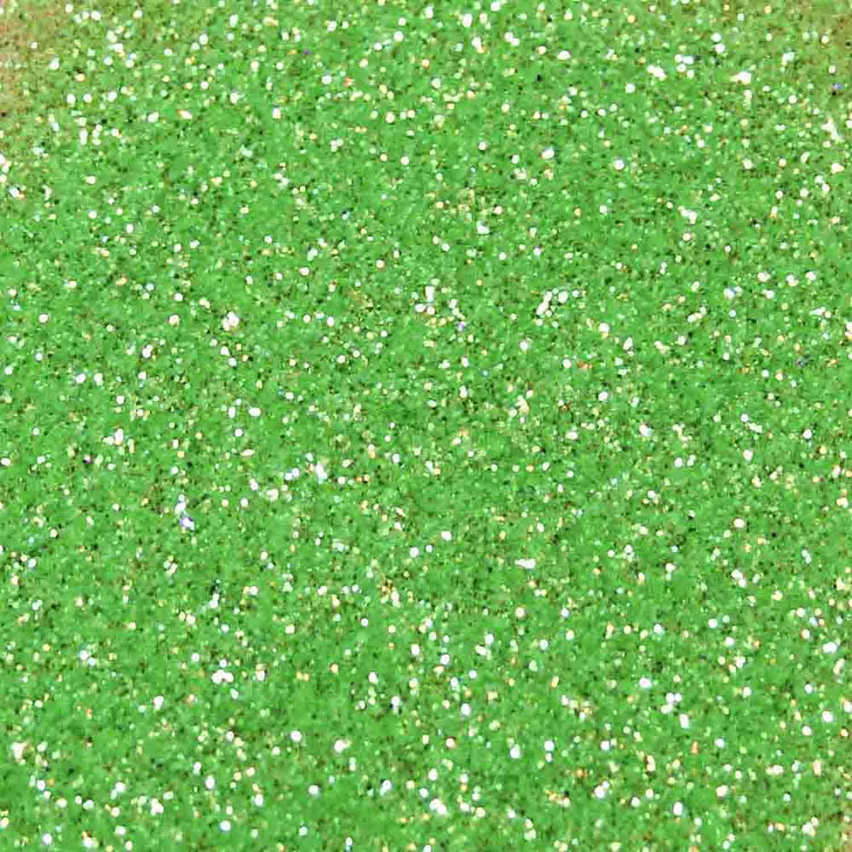 Heat Green Techno Glitter