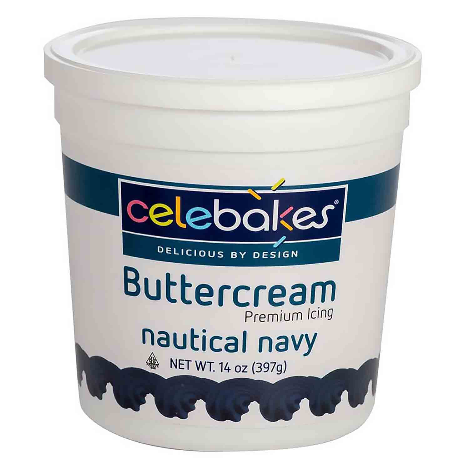 Navy Decorating Buttercream Icing