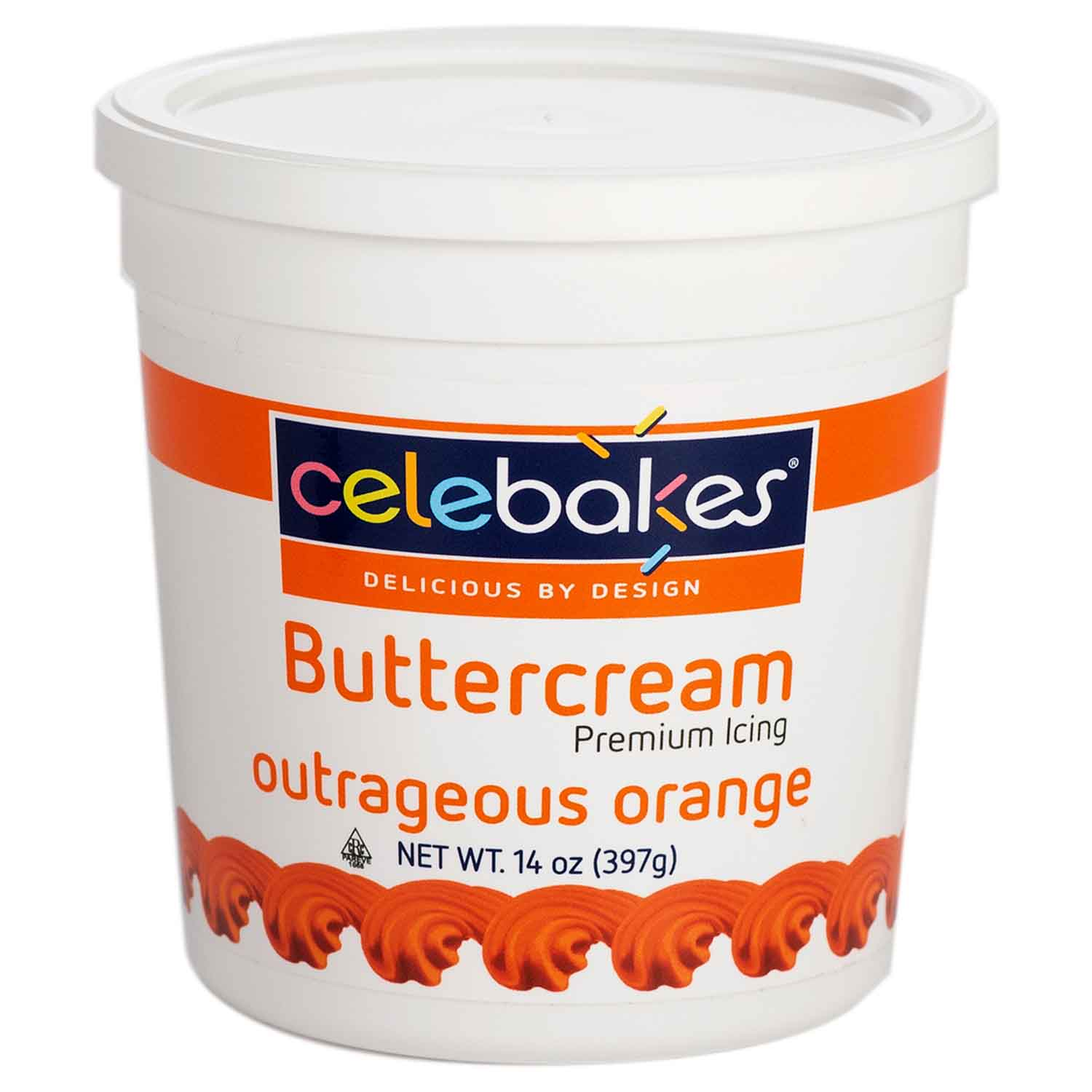 Orange Decorating Buttercream Icing