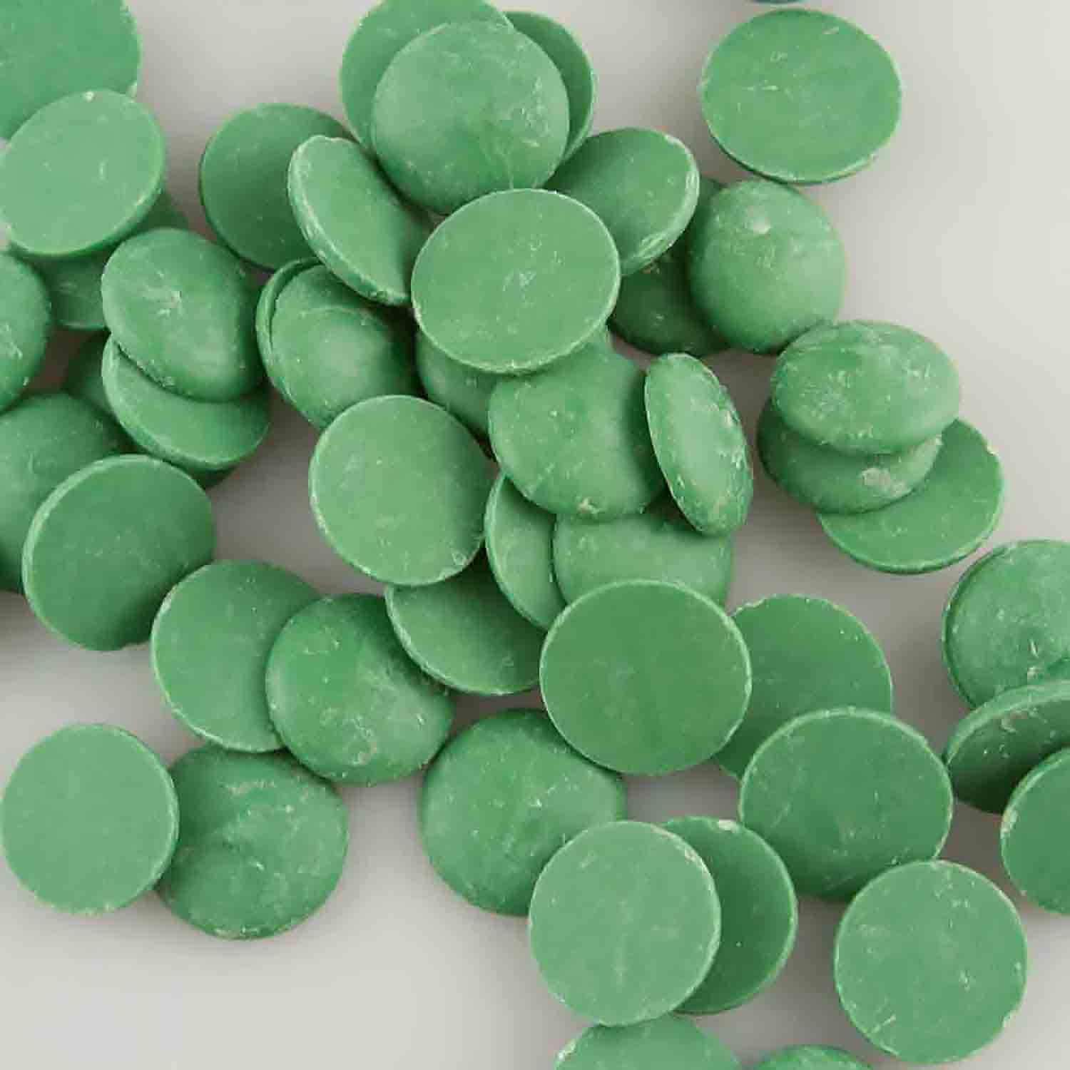 Merckens Garden Green Vanilla Flavored Candy Coating