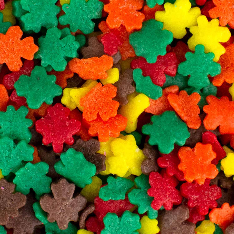 Autumn Leaves Edible Confetti Sprinkles