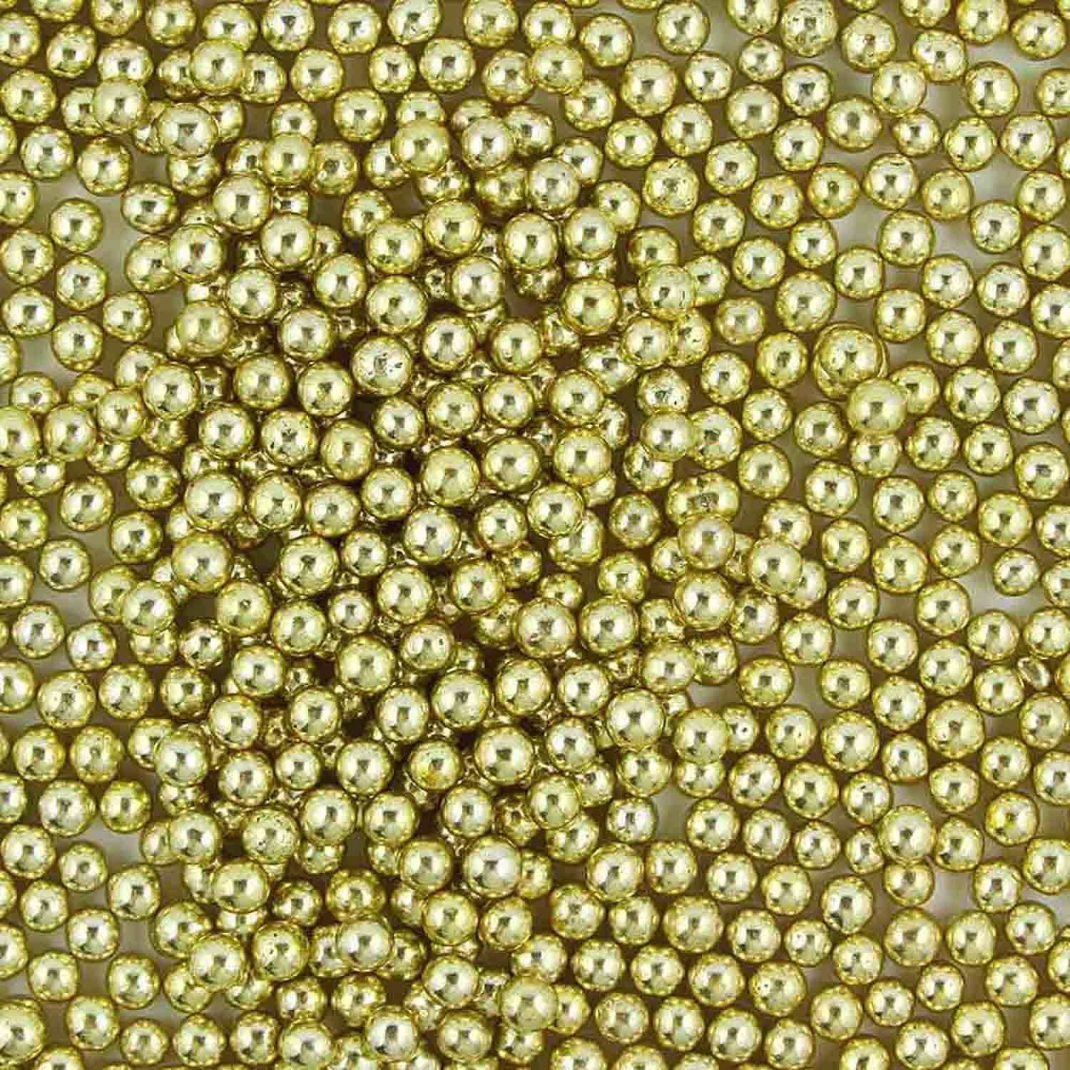 5mm Gold Metallic Dragees