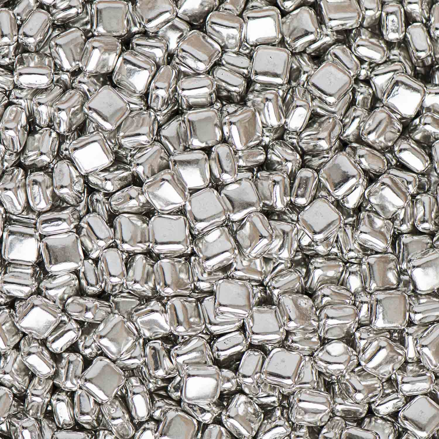 Silver Square Metallic Dragees