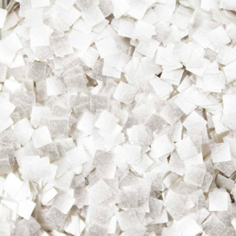 White Squares Edible Glitter