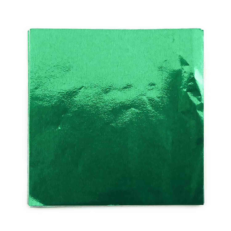 "4 x 4"" Foil Wrapper Green"