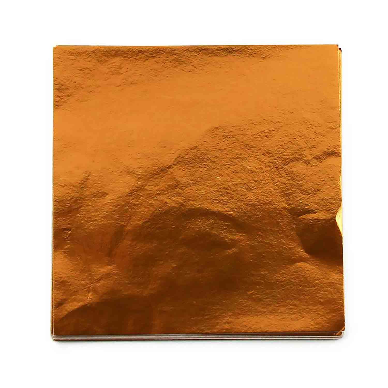 """4 x 4"""" Foil Wrapper Copper/Orange"""