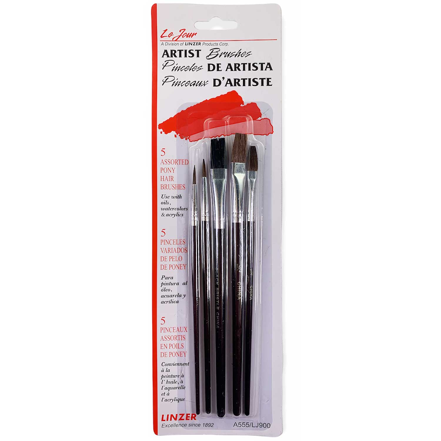 Paint Brushes - Set of 5