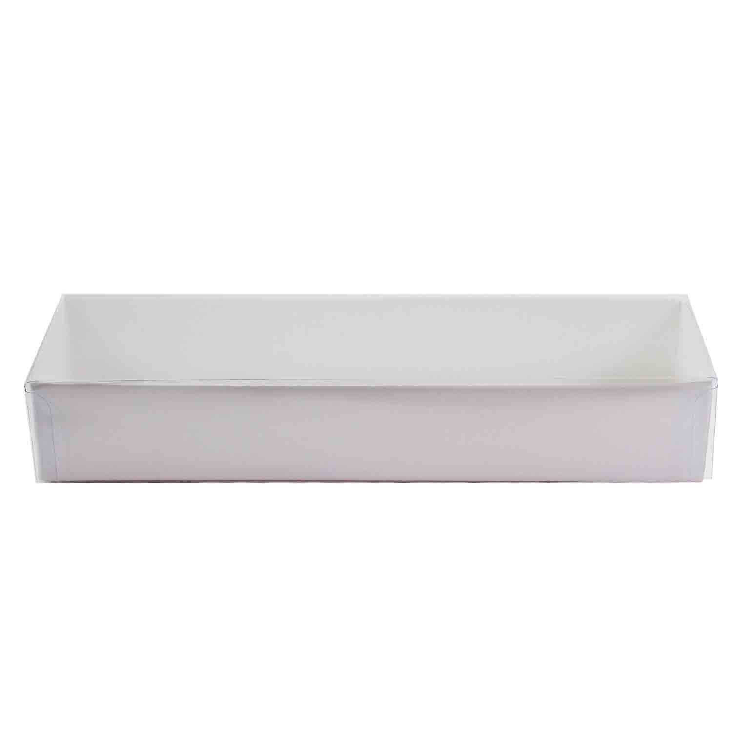 1/2 lb. White Candy Box with Clear Lid