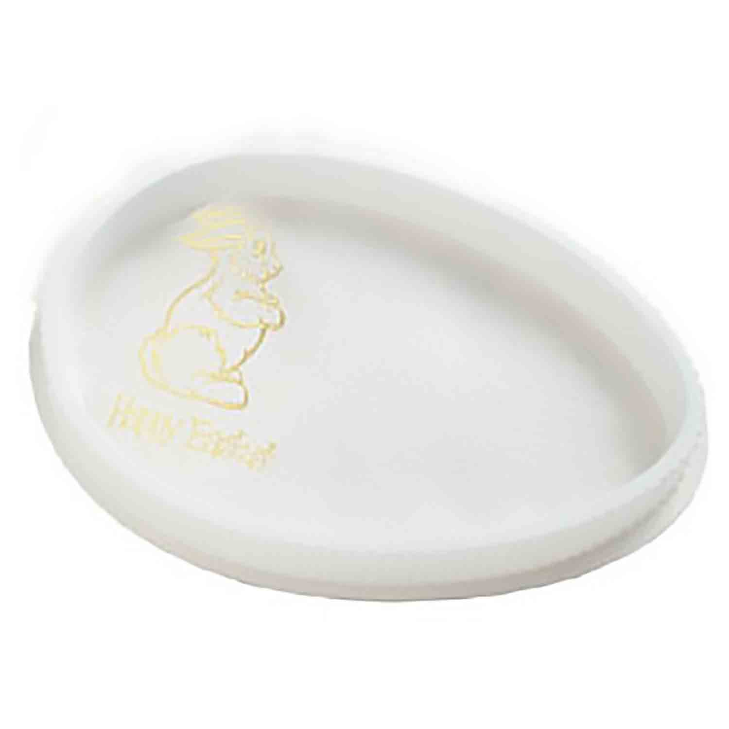 1 lb. White Egg Shaped Candy Box with Clear Lid