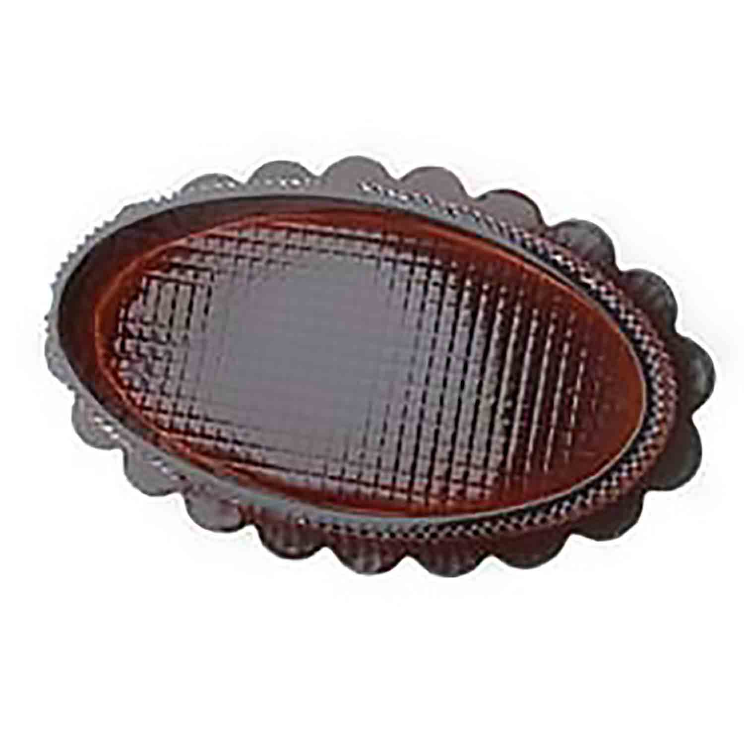 1/2 lb. Brown Oval Candy Box with Clear Lid
