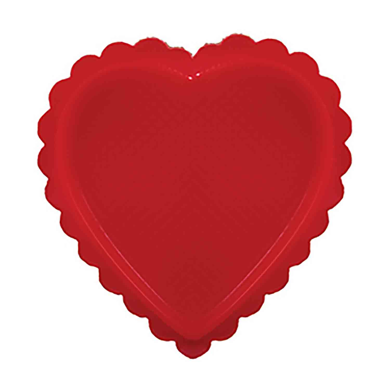 1 lb. Red Heart Candy Box with Clear Lid
