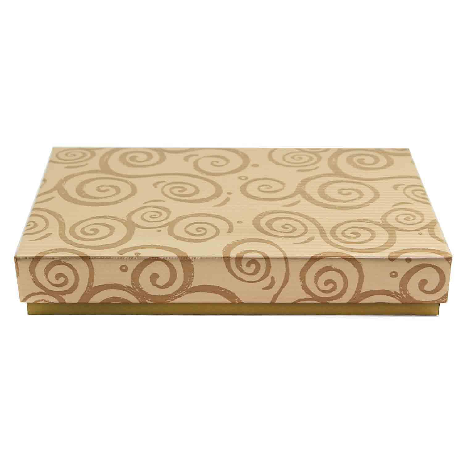 1/2 lb. Gold Swirl Candy Box