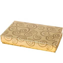 1 lb. Gold Swirl Candy Box