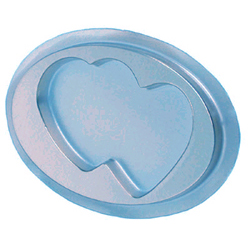 1 Pc. Silver Double Heart Mint Candy Box with Clear Lid