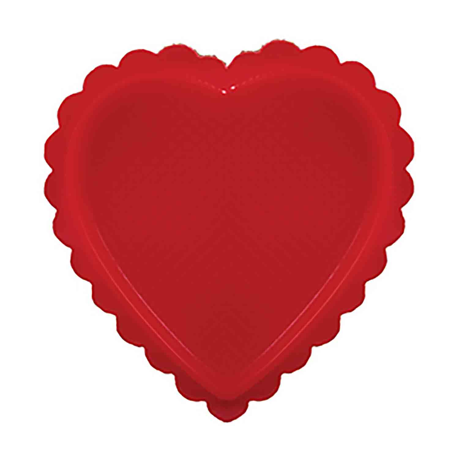 1/4 lb. Red Heart Candy Box with Clear Lid