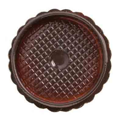 1/8 lb. Brown Direct Pour Candy Box with Clear Lid