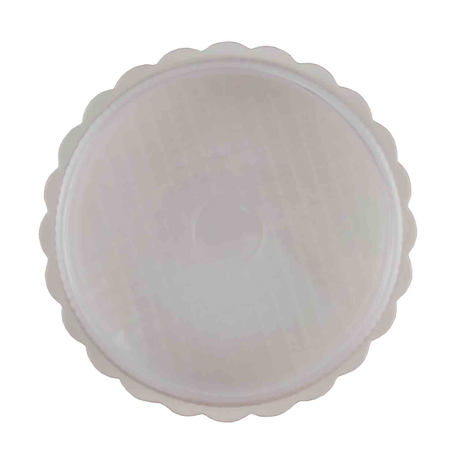 1/8 lb. White Candy Box with Clear Lid