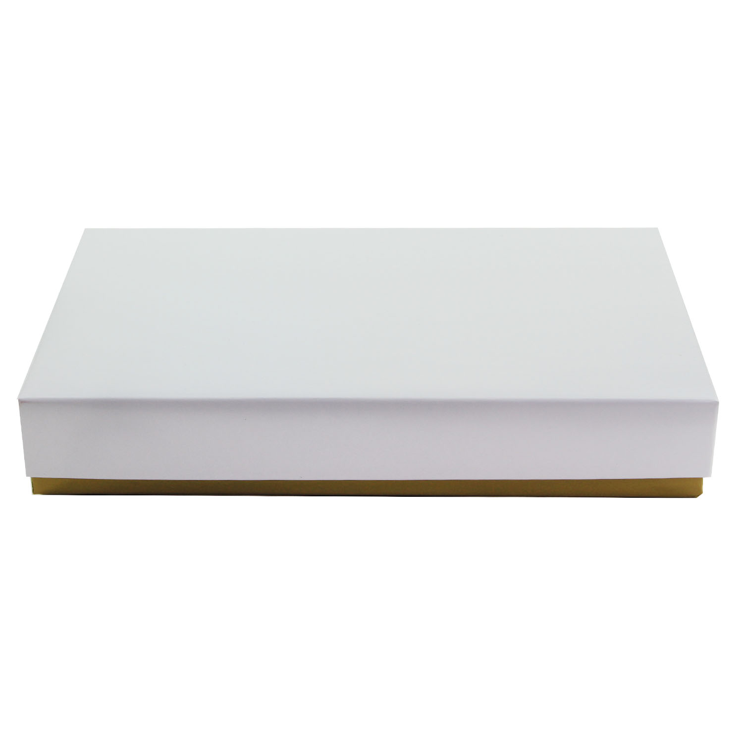 1/2 lb. White Candy Box with Gold Base