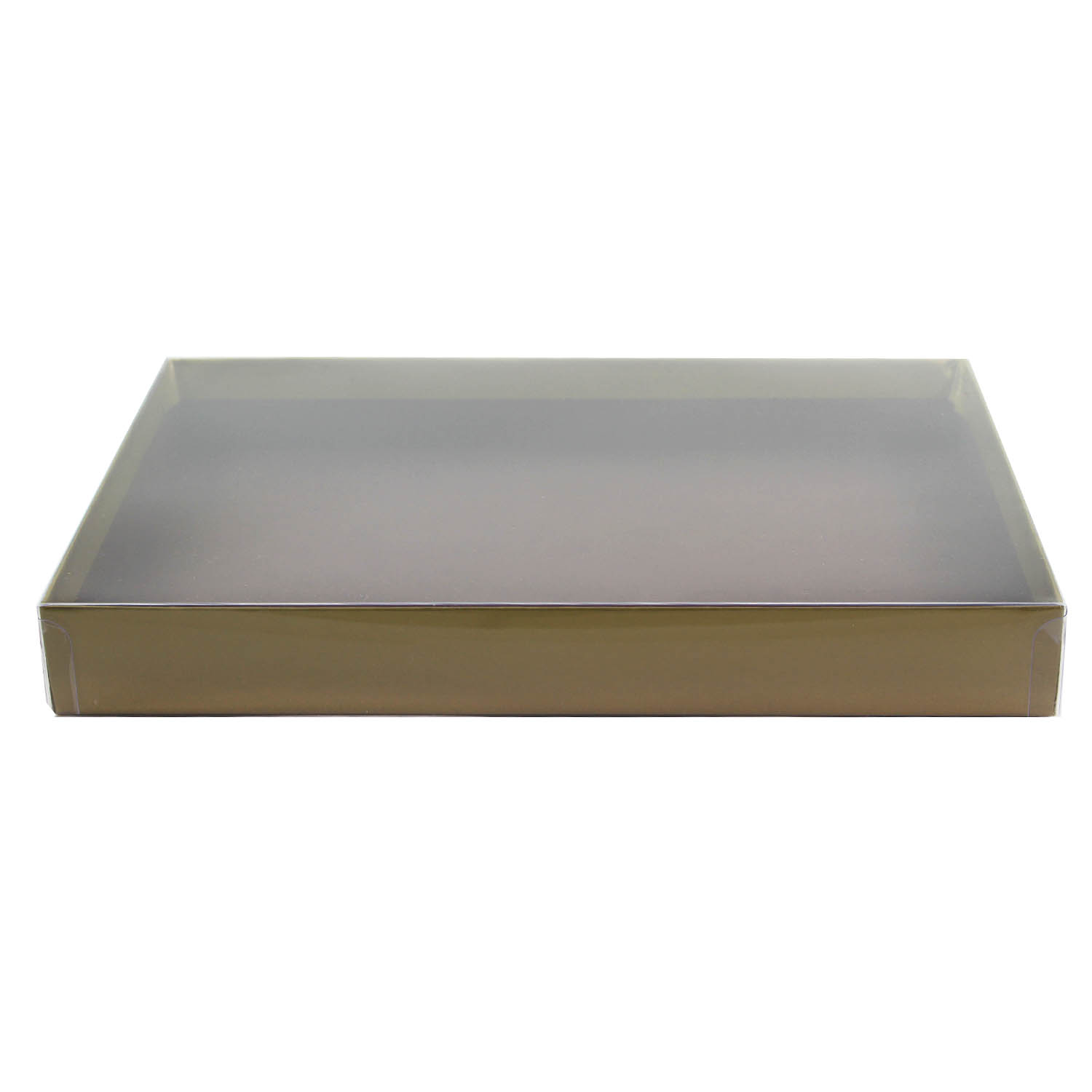 1 lb. Gold Candy Box with Clear Lid
