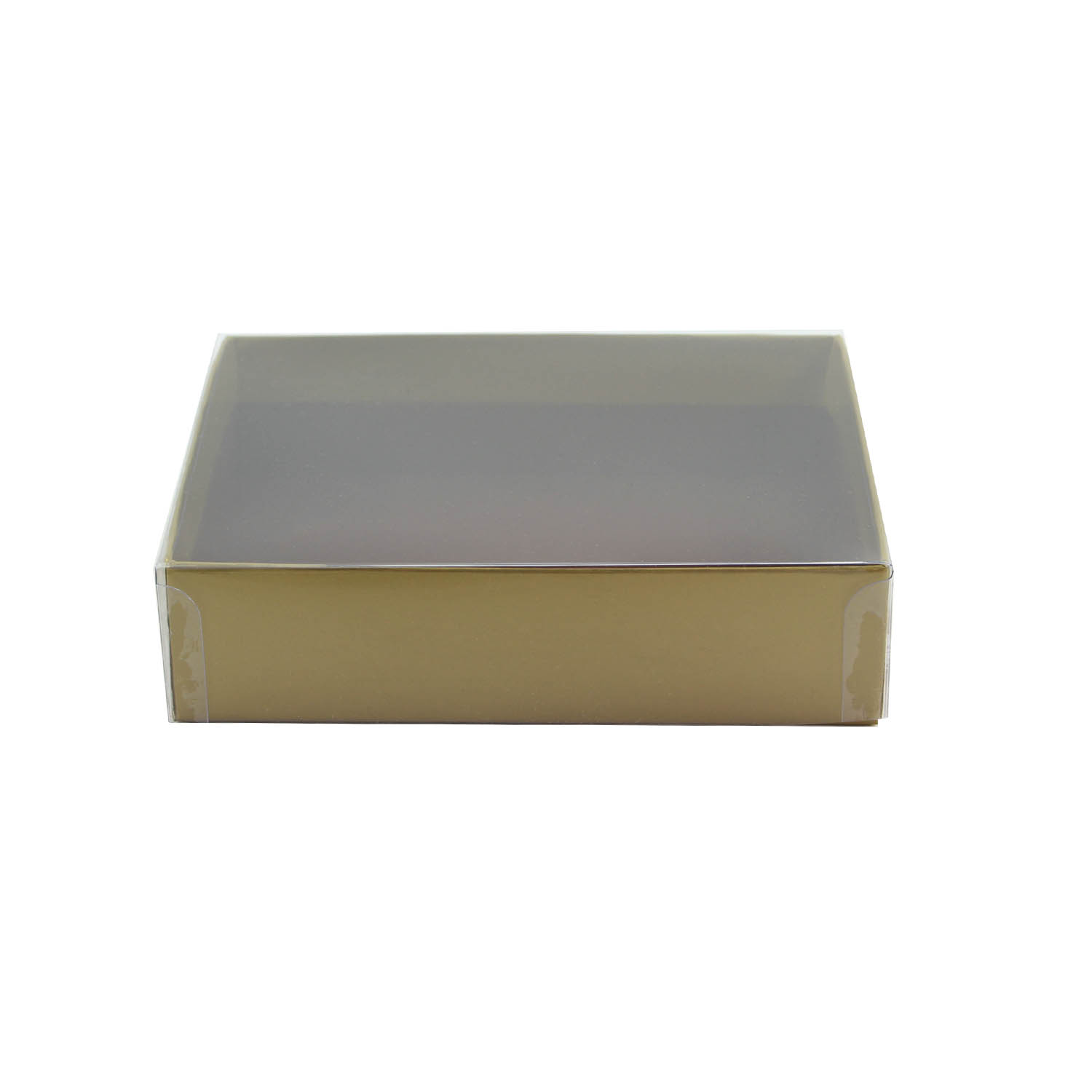 1/4 lb. Gold Candy Box with Clear Lid