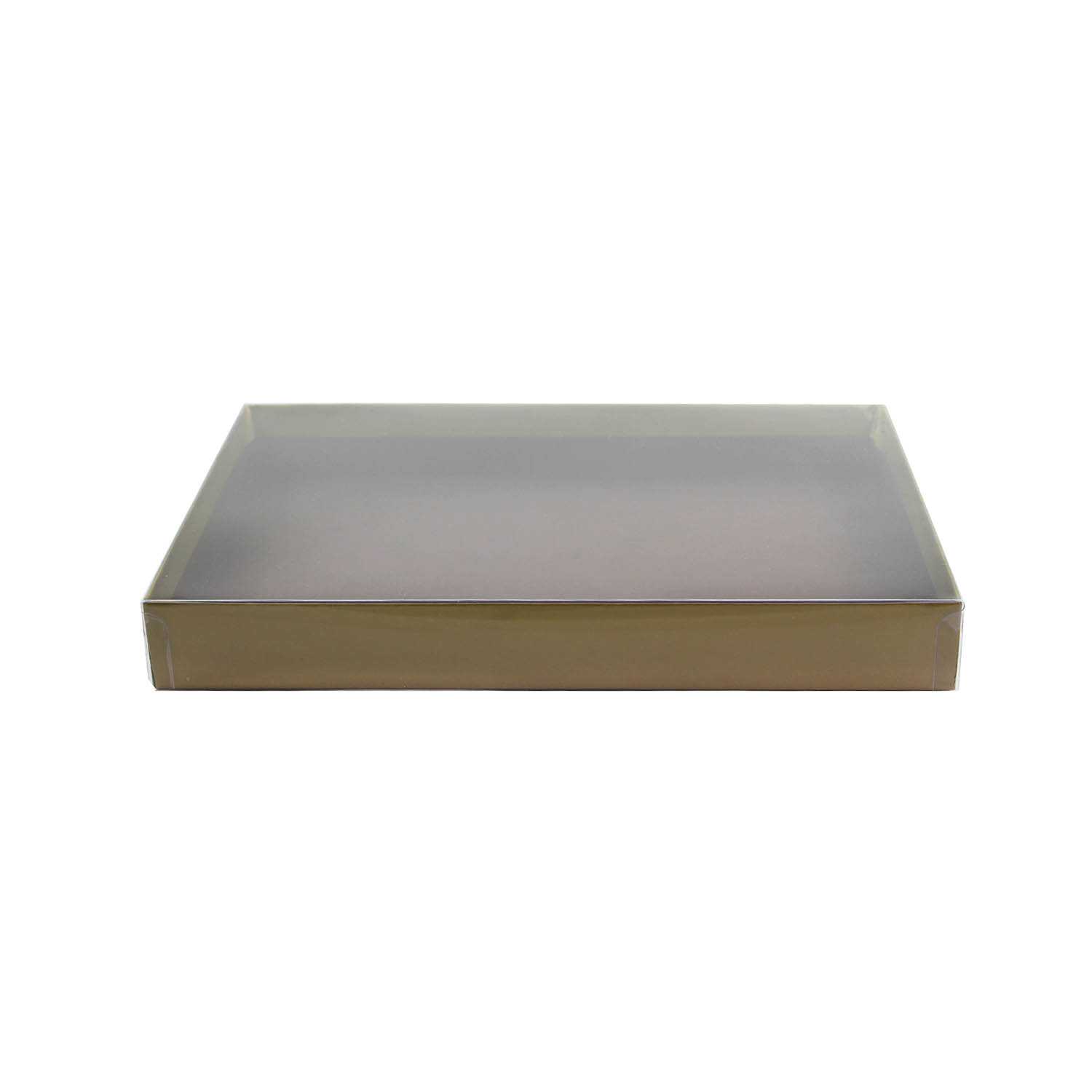 1/2 lb Gold Candy Box with Clear Lid