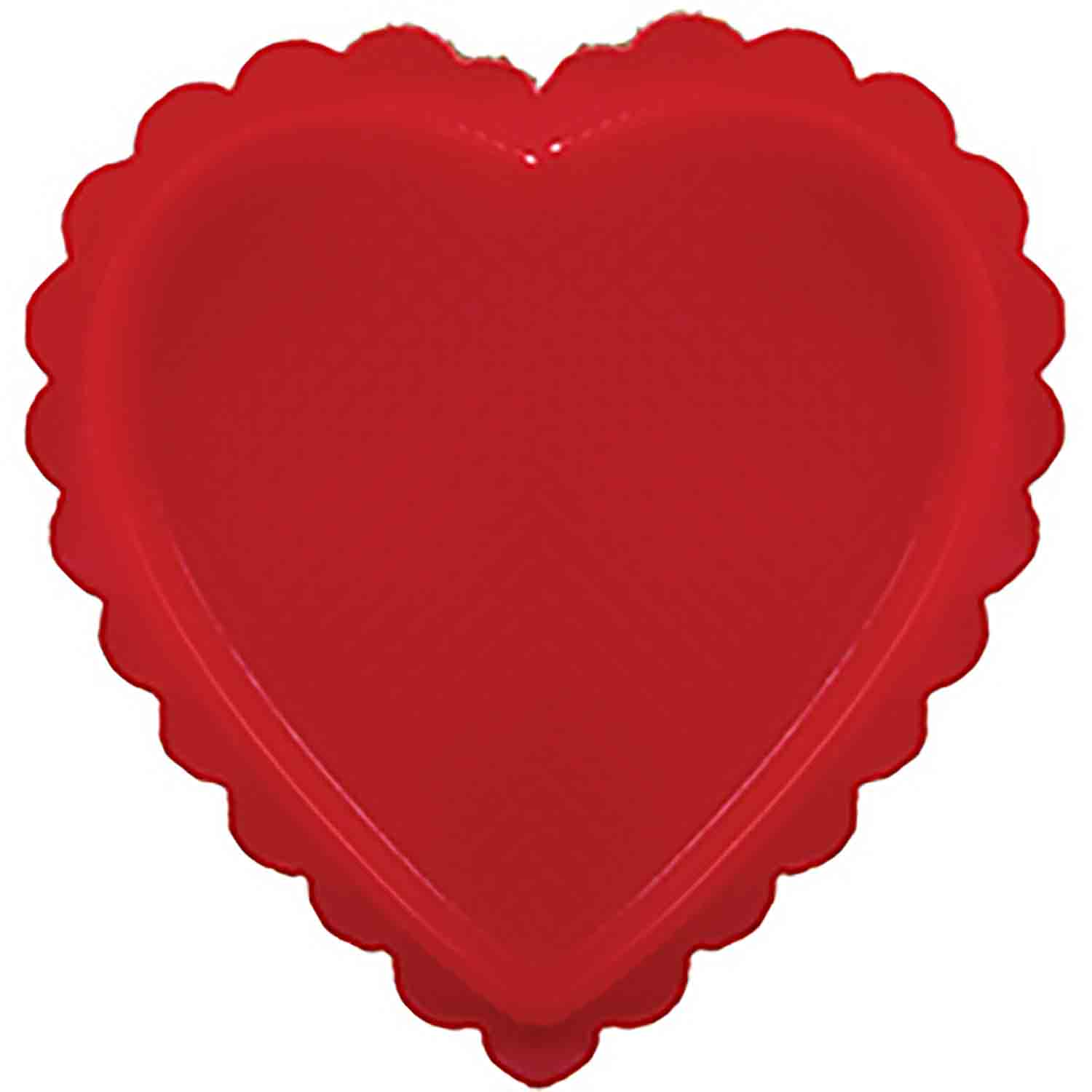 1/2 lb. Red Heart Candy Box with Clear Lid
