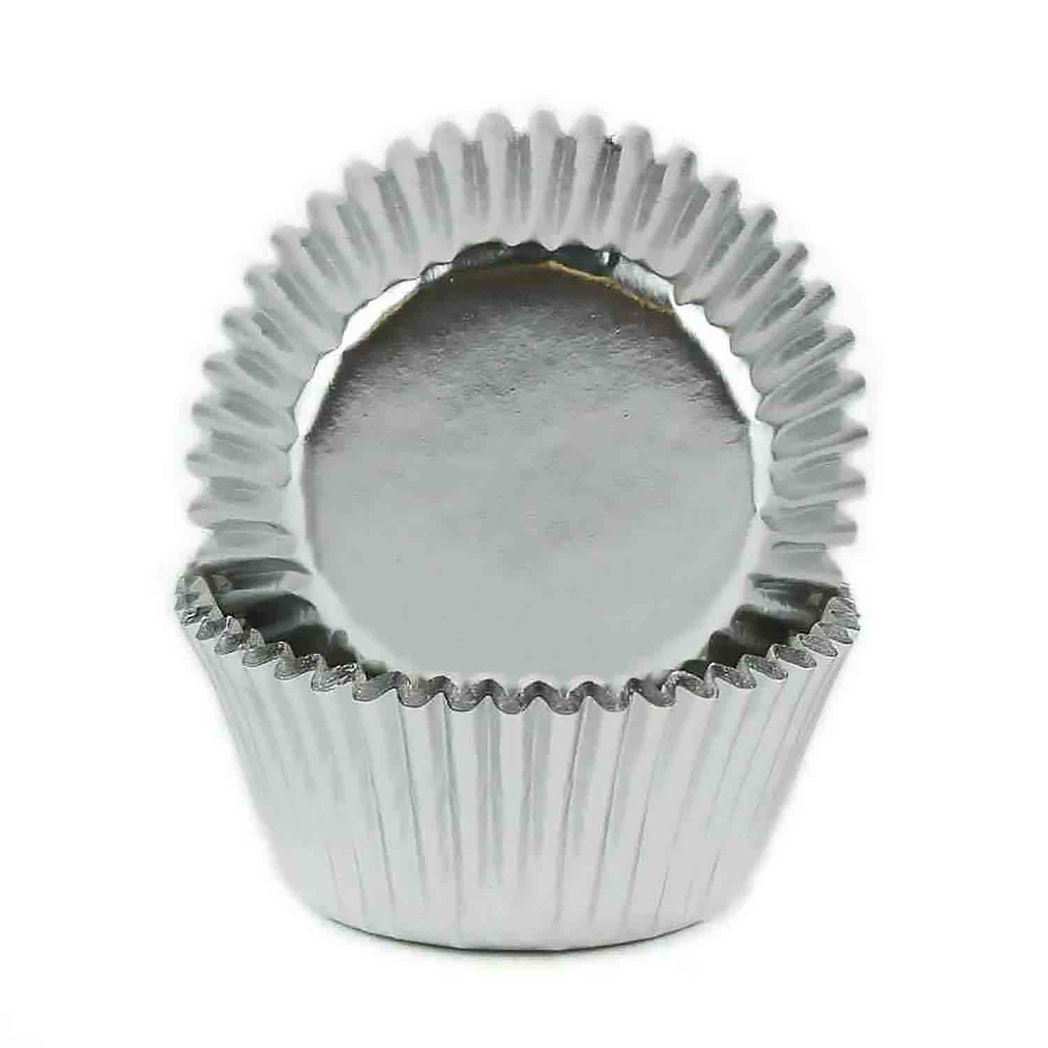 Silver Foil Mini Baking Cups / #6 Candy Cup