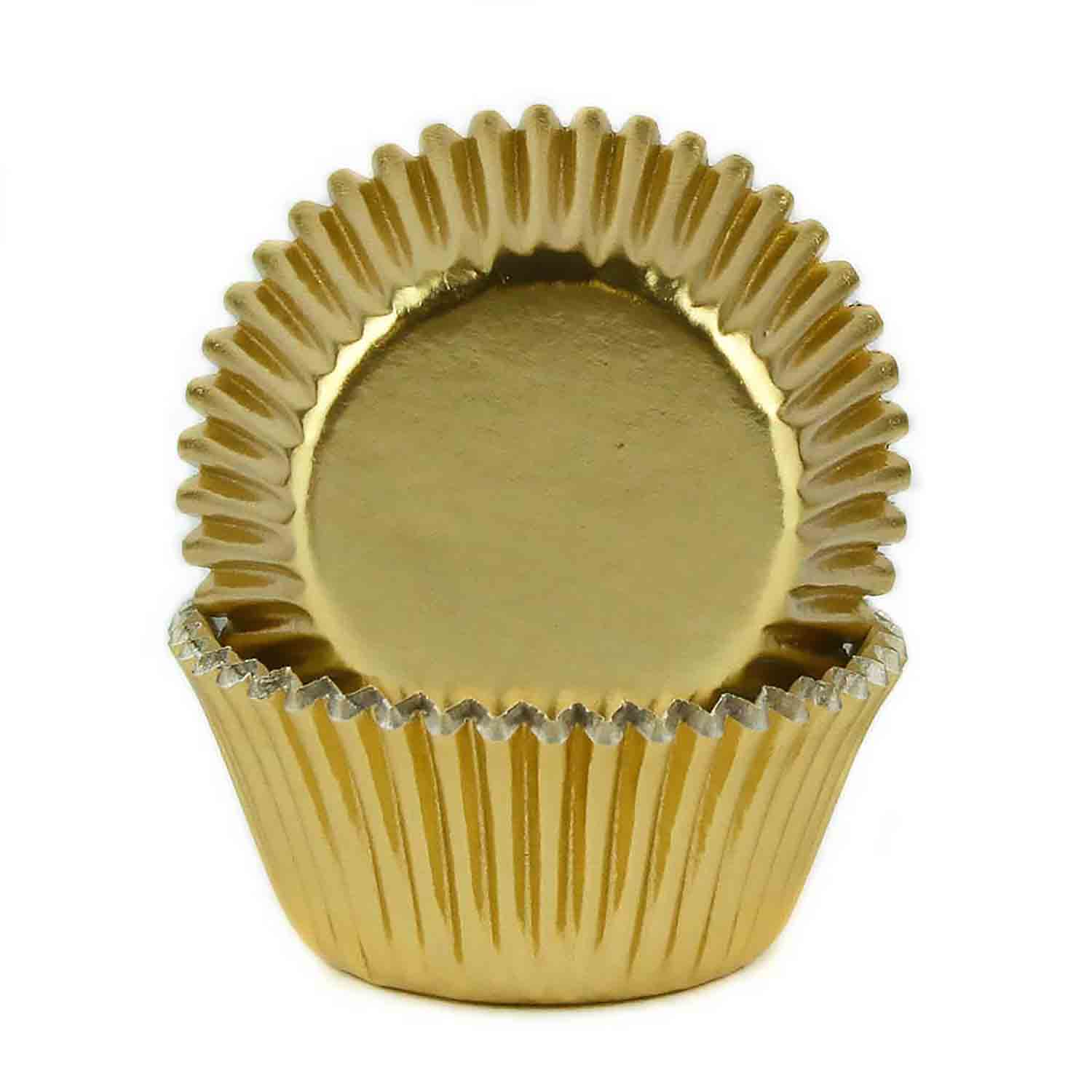 Gold Foil Mini Baking Cups / #6 Candy Cup